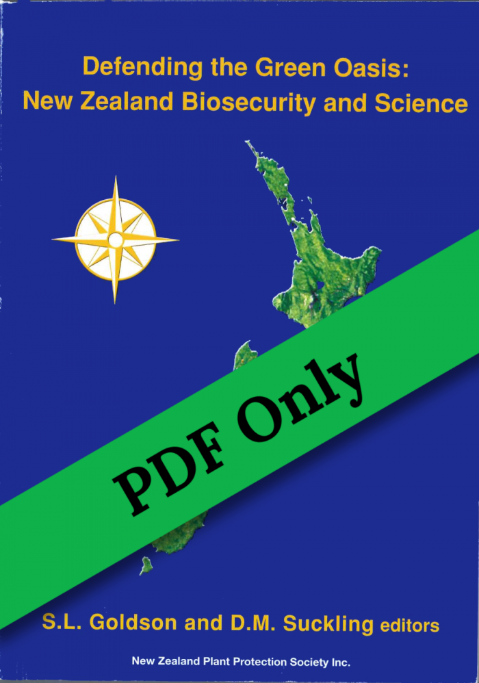 Book Cover: Defending the Green Oasis: New Zealand Biosecurity and Science