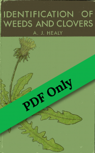 Book Cover: Identification of Weeds and Clovers