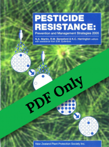 Book Cover: Pesticide Resistance: Prevention and Management Strategies 2005