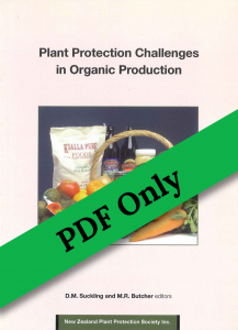 Book Cover: Plant Protection Challenges in Organic Production
